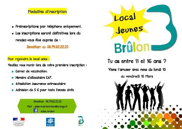 Des activités pour les ados pendant les vacances - MAIRIE DE BRULON